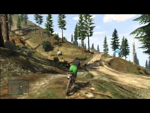 GTA V – AWESOME MOUNTAIN BIKE RACE