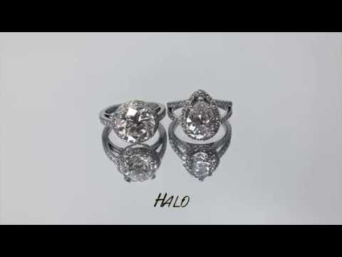 Solitaire vs Halo Engagement Rings