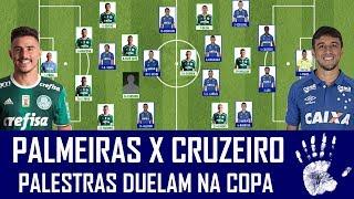 Duelo de Palestras nesta quarta-feira, às 21h45, no Allianz Parque. Palmeiras e Cruzeiro se enfrentam pelas quartas de final da Copa do Brasil. Confira as ...