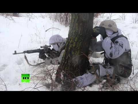 Снайперы-миротворцы ЦВО тренируются уничтожать провокаторов в буферных зонах (видео)