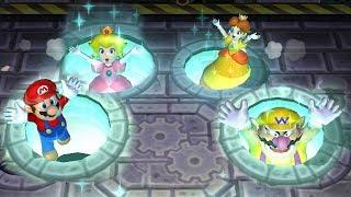 Mario Party 9 Garden Battle - Peach vs Daisy vs Wario vs Mario| Cartoons Mee