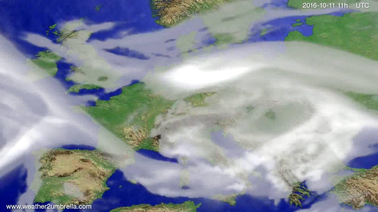 Cloud forecast Europe 2016-10-08