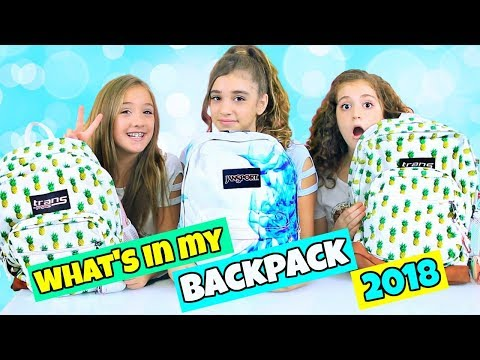 What's In Our Backpacks? Back to School 2018!