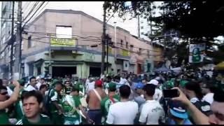 Torcida Uniformizada do Palmeiras fazendo aquele aquecimento antes do jogo contra o vitória, batucada da MAIS VIBRANTE.