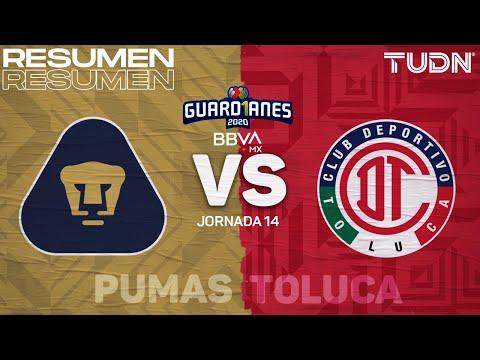 Resumen | Pumas vs Toluca | Guard1anes 2020 Liga BBVA MX - J14 | TUDN