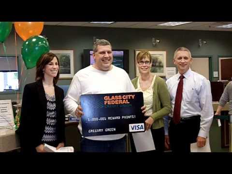 Glass City Federal member, Greg Green – National Visa Winner of 1,000,001 reward points!