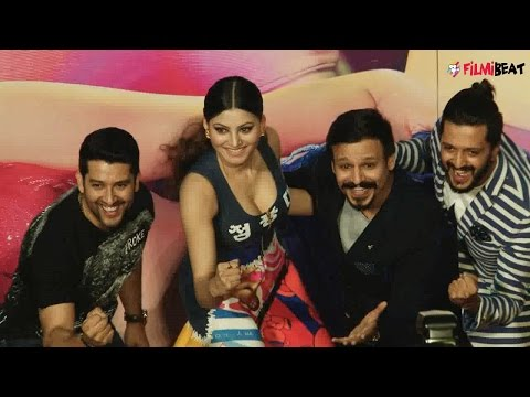 Video Urvashi Rautela flaunting cleavage during Great Grand Masti trailer launch, Watch | Filmibeat download in MP3, 3GP, MP4, WEBM, AVI, FLV January 2017