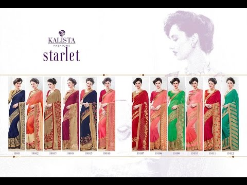Latest Indian Saree Collection 2017 || KALISTA STARLET || Party Type Saree