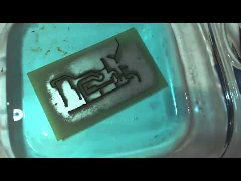 Etching a Printed Circuit Board(PCB) using sodium persulfate