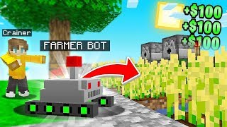 I Made A FARMING ROBOT In Minecraft Sky Block!