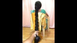 Thick Hair Braid Making of Rekha