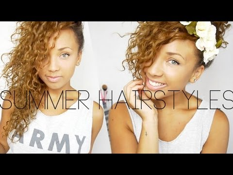 Quick Summer Curly Hairstyles ♡