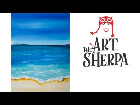INCREDIBLY EASY ART Abstract  beach Landscape  🌊   tutorial for REAL beginners