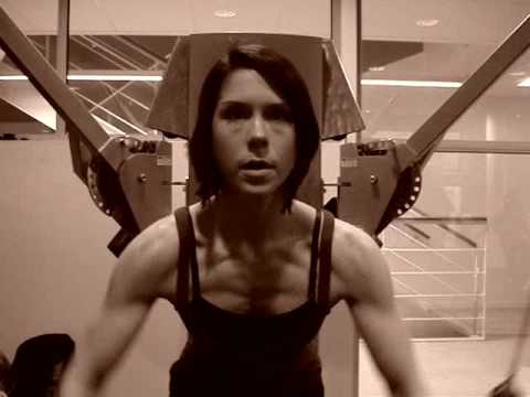 Frida Westin Training before competition in Body fitness MTGP 2008