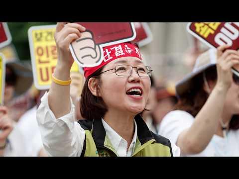 보건의료노동자대행진, 서울역집회부터 거리행진까지20180627