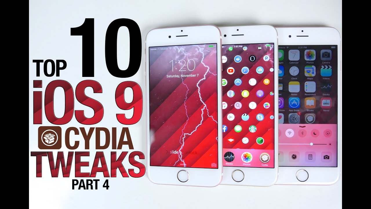 Top 10 iOS 9 Cydia Tweaks Part 4! 9.0.2 Pangu Compatible