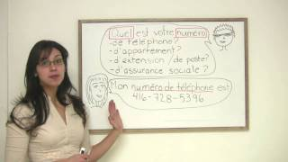 In this French lesson, Rita explains how to ask and answer questions related to someones telephone number, extension number, and more. Presented by Diplomat Language School in Toronto, Canada.