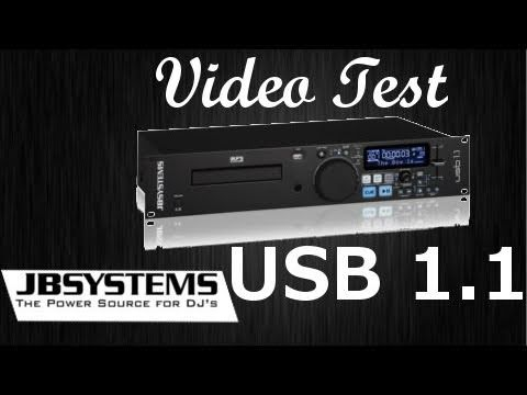 Video Test  - JB SYSTEMS USB 1.1 DJ/CD /USB /MP3 Player