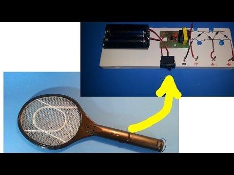 Tutorial: Cómo hacer una fuente de alto voltaje a partir de una raqueta eléctrica.