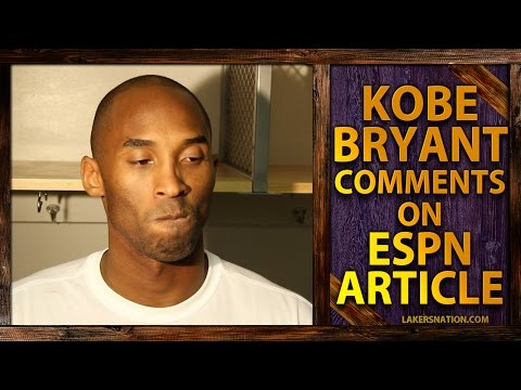 bryant - Kobe Bryant's comments on the latest ESPN article to rip him to shreds. Join the Largest Lakers Fan Site in the World http://LakersNation.com | Follow http://twitter.com/LakersNation | Become...