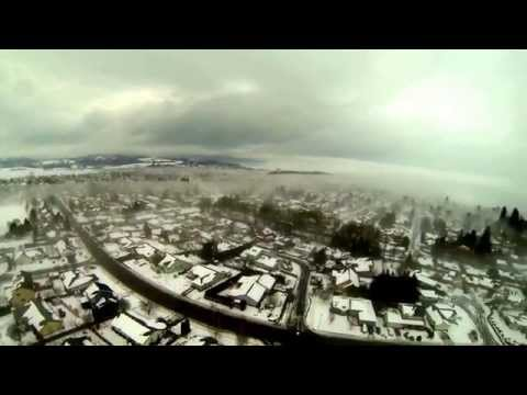 McMinnville Snow Day with DJI Phantom and GoPro Hero3