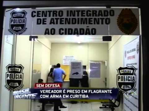 Brasil Urgente - Vereador de Adrianópolis é preso em flagrante com arma em Curitiba.