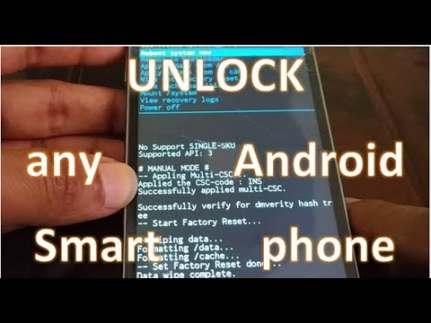how to remove/unlock Forgotten password, PIN, Pattern for any Android Smartphone