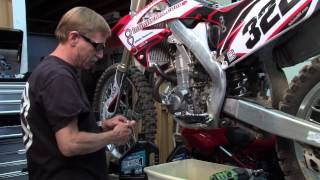 9. Honda CRF450 - How to make your Honda CRF450 engine last longer. Changing your oil
