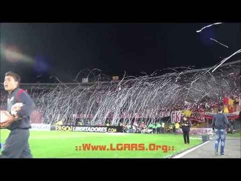 LA FIESTA DE TODOS ! IND SANTA FE VS GREMIO - COPA BRIDGESTONE LIBERTADORES 2013 - La Guardia Albi Roja Sur - Independiente Santa Fe