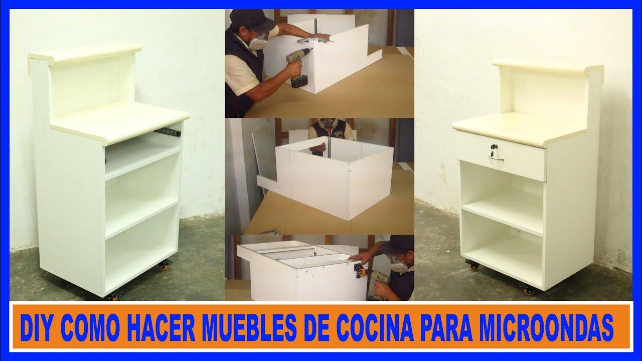 Como hacer muebles de cocina melamina mueble para microondas how to make kitchen cabinets Como hacer muebles de cocina