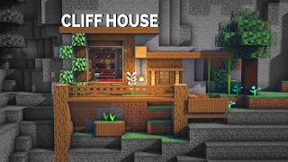 Minecraft Tutorial: CLIFF BASE HOUSE with everything you need to survive!!!
