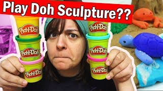 Video PLAY DOH SCULPTURE CHALLENGE! Trying to use Play Doh like Polymer Clay DIY Art Craft MP3, 3GP, MP4, WEBM, AVI, FLV Desember 2018