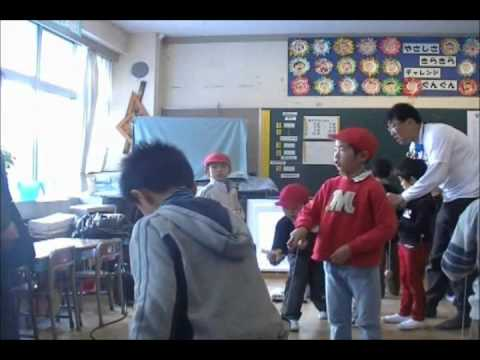 新潟市立東青山小学校けん玉授業2011.1.18