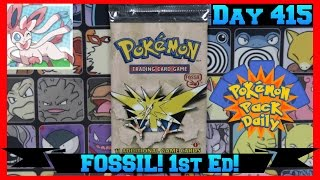Pokemon Pack Daily 1ST EDITION FOSSIL Booster Opening Day 415 - Featuring Kevsbud by ThePokeCapital