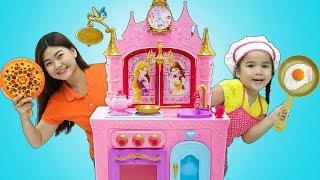Suri Pretend Play w/ Kids Food Toys and Princess Kitchen Play Set