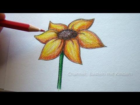 Zeichnen lernen: Blume zeichnen