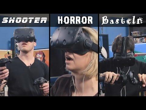»Ihr seid so blöde Säcke!« - Drei Redakteure testen die Edel-VR-Brille HTC Vive