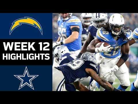 Chargers vs. Cowboys | NFL Week 12 Game Highlights