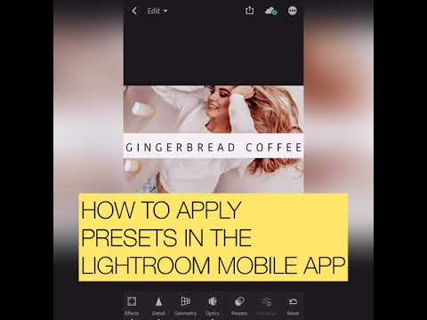 How to Download, Install and Apply mobile presets into the Lightroom