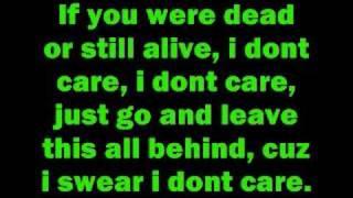 Video I don't care by Apocalyptica with lyrics MP3, 3GP, MP4, WEBM, AVI, FLV Juni 2018