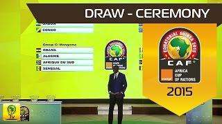 DRAW Ceremony Orange Africa Cup of Nations, EQUATORIAL GUINEA 2015 Cérémonie du tirage au sort de la CAN Orange,...