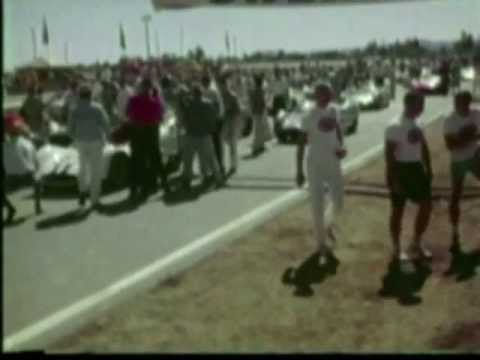 1963 LA Times Grand Prix - Dave MacDonald wins in Shelby King Cobra. Roger Penske 2nd