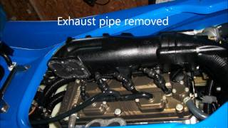 6. 2007 Kawasaki Ultra 250x supercharger oil dip stick location.wmv