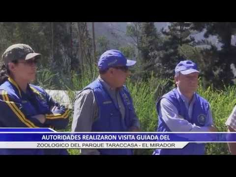 AUTORIDADES REALIZARON VISITA GUIADA DEL ZOOLOGICO DEL PARQUE TARACCASA