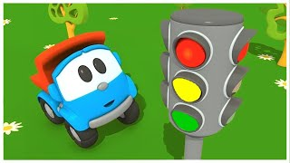 Video Leo the truck - Car cartoon. The traffic light. Learning video. MP3, 3GP, MP4, WEBM, AVI, FLV April 2019