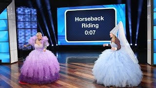 Video Ellen and Drew Barrymore's Giant, Royal Game of 'Heads Up!' MP3, 3GP, MP4, WEBM, AVI, FLV Mei 2018