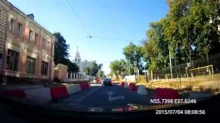 Tverskoy - Danilovskiy 04/07/2015 (timelapse 4x)