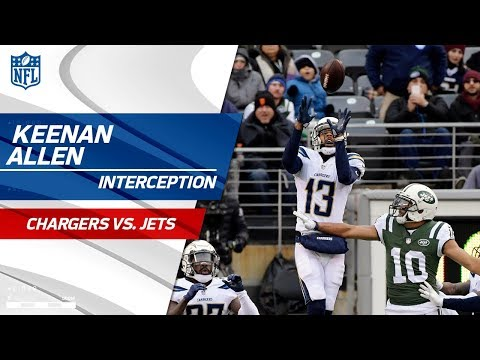 Video: Keenan Allen in Prevent Defense Snags INT to End the Half! | Chargers vs. Jets | NFL Wk 16