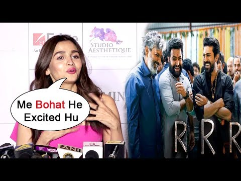 Alia Bhatt EXCITED Working In SS Rajamouli's RRR | NTR | Ram Charan