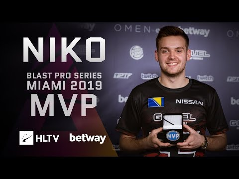 NiKo - HLTV MVP by betway of BLAST Pro Series Miami 2019
